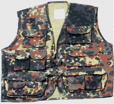 Kinder Outdoor - Weste flecktarn