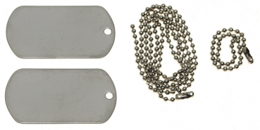 DOG TAG - Set silber